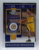 Malcolm Brogdon 2019-20 Contenders Optic Silver Base Pacers No.38