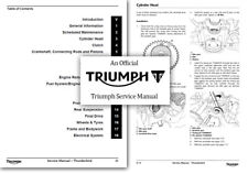 Triumph Thunderbird 1600 1700 Workshop Service Shop Manual Storm