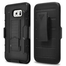 Custodia cover SLIDING RUGGED pr Samsung Galaxy S7 G930F clip cintura NERA nuova