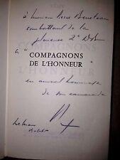 REMY / COMPAGNONS DE L'HONNEUR envoi autographe de l'auteur ; dédicace