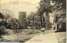 Carte postale, CHERBOURG, Parc Emmanuel Liais, écrite au revers en 1918.