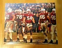 NEBRASKA FOOTBALL AARON GRAHAM #54 SIGNED BOWL GAME PHOTO - STAI WEIGART WILKS