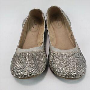 Bandolino Women's 12 M B-Flexible Silver Metallic Ballet Flats Slip On Shoes