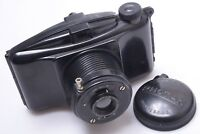 M.I.O.M. PHOTAX 6X9CM 620 ROLL FILM CAMERA, BAKELITE BODY W/ BOYER LENS & CAP
