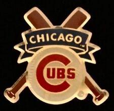 Chicago Cubs Baseball Pin Badge ~ MLB ~ Cross Bats