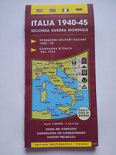 Mappa ITALIA 1940-45 SECONDA GUERRA MONDIALE   ..MILITARIA ..2WW ..METAL DETOR