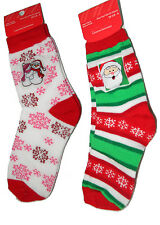 2 Pair Christmas Socks Novelty decorated for Children Shoe size 10 1/2 -4 983/91
