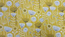 Fryetts Scandi Bergen Ochre Curtain Upholstery Craft Designer Cotton Fabric