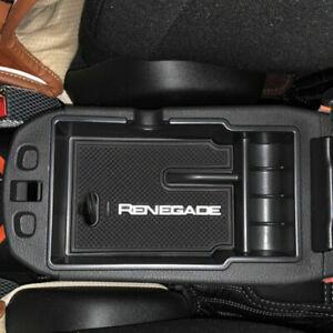 Organizer bracciolo portaoggetti per Jeep Renegade con tappetino antiscivolo