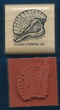 CONCH SHELL Spiral Beach Ocean CALM SEAS seashell NEW Stampin' Up! RUBBER STAMP