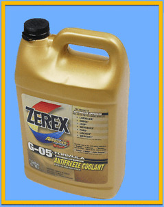 1 Gallon Engine Motor Coolant/Antifreeze Concentrate VALVOLINE Zerex Yellow