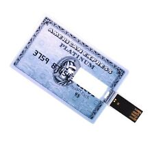 American Express bank Platinum credit card 8GB USB 2.0 flash drive memory stick