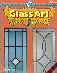 Glass-Art Folio 1 Great Glass Stained Glass Patterns Window Panels Craft Book