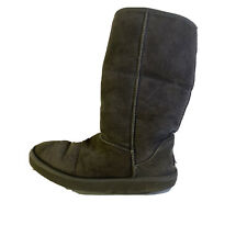 Women's UGG Australia Classic Tall Gray Suede Sheepskin Boots Size US 10