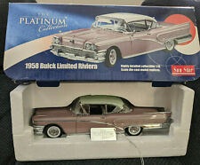 Sun Star Platinum Collection 1958 Buick Limited Riviera 1:18 Laurel Mist  -Boxed