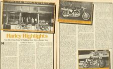 1978 Harley-Davidson Highlights - 8-Page Vintage Motorcycle Article