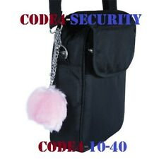 Pink Fur Ball 100 dB personal buzzer alarm and stylish handbag accessory