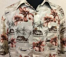 Men's LARGE Hawaiian Shirt Rayon Puritan     B27