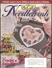 McCall's Needlework Apr 1996 Blue & White Projects Afghan Baby Blanket Easter