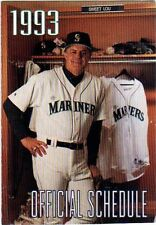 1993 SEATTLE MARINERS POCKET SCHEDULE - LOU PINELLA ON FRONT - BUDWEISER ON BACK