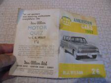 les Voitures américaines  AMERICAN CARS 1962 M J Wilson