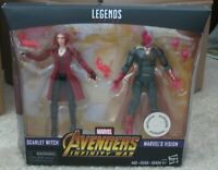 """Marvel Legends 6"""" MCU Vision + Scarlet Witch New Sealed Mint Avengers Infinity"""