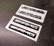 X2 AMG Logo En Forme De Dôme effet 3d Vinyle Autocollants-Choix de Couleurs