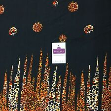 Black orange viscose border Fabric M1400-21 Mtex