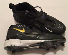 Nike Team Code D Football Cleats Mens Sz 14 Black And Yellow High top