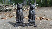 Cast Iron Andirons for fireplace Cats