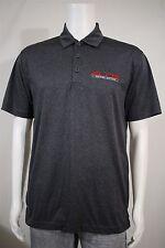 Sport-Tek Men's MEDIUM Elite Motor Suites Automobile Cars Gray Golf Polo Shirt