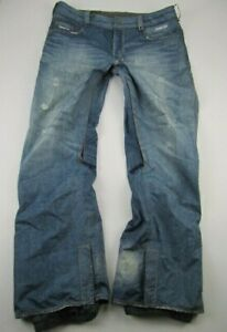 Mens XL Burton Gore-Tex The Jeans snowboarding blue snow pants