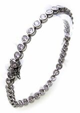 Ladies Tennis Bracelet genuine Silver 925 Zirconia 4,6 mm wide Sterling New