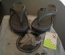 Crocs Athens Flip Flops Sandals Men's 13 Black Thong Shoes NEW No Box FREE SHIP