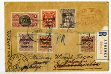 Greece Rare Cover to Belgium via London Registered