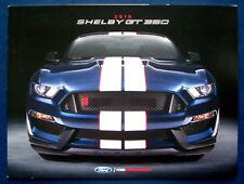 Prospekt brochure 2018 Ford Mustang Shelby GT350 (USA)