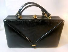 Vtg MCM Murray Kruger Faux Alligator Box Bag Purse Chain Detail