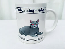 Cat Lovers Limited Collectable Turkish Van Cat / Chartreux Cat 12 oz. Coffee Cup