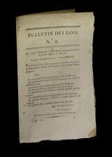 EMPIRE NAPOLEON Légion d'honneur Sacre impérial]  Bulletin des Lois / Décret
