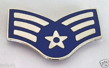 US AIR FORCE RANK E4 AIRMAN SR.  Military Veteran Rank Pin 14442 HO