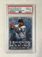 RONALD ACUNA JR 2018 Topps Legends BLUE SP RC! PSA GEM MINT 10! BRAVES! INVEST!