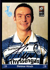Dietmar Hirsch AUTOGRAFO scheda MSV Duisburg 1997-98 2. scheda ORIG Sign + a 70492