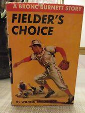 FIELDER'S CHOICE Hardcover Baseball Book (1949)