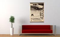 """1969 PORSCHE SERVICE CENTRE AD PRINT WALL POSTER PICTURE 33.1""""x23.4"""""""