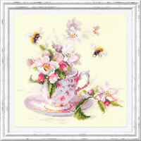 Counted Cross Stitch Kit MAGIC NEEDLE - Cup and apple blossom