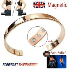 Magnetic Copper Bracelet Healing Bio Therapy Arthritis Pain Relief Bangle Unisex