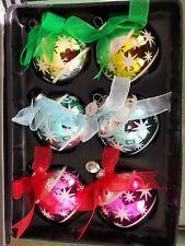 Christopher Radko Celebrations Glass Ball Christmas Ornaments Mica Atomic Stars