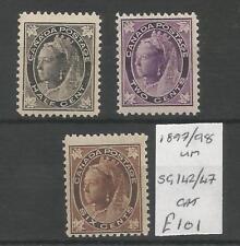 3 X 1897-8 QV STAMPS FINE & FRESH MNH CAT £101+