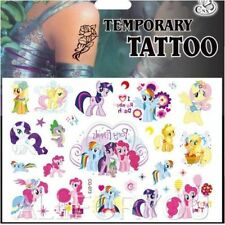 HOT My Little Pony Temporary Tattoo Sheet Kids Childs Birthday Party Bag Filler