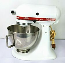 KitchenAid KSM90 Mixer With Bowl and Whisk 300W 10 SPEED STAND Red and White